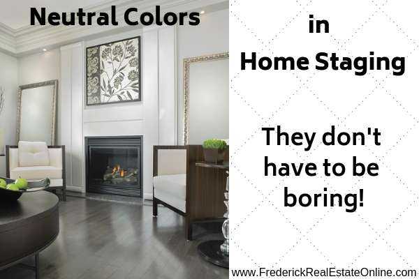 using neutral colors in home staging