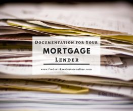 Documentation for Your Frederick MD Mortgage Lender