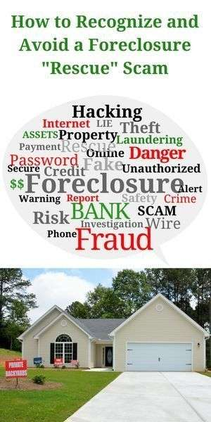 avoid foreclosure scam