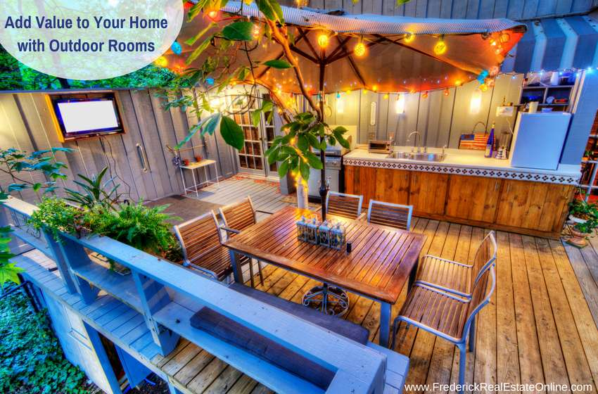 Outdoor rooms add value to a home