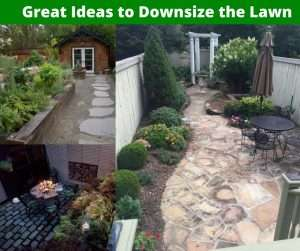 downsizing trend includes lawns