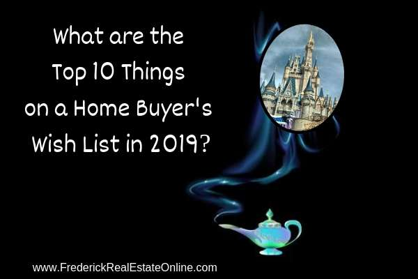top ten home buyer's wish list