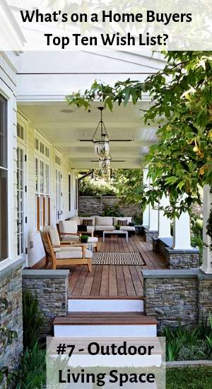 home buyers top ten wish list - outdoor rooms