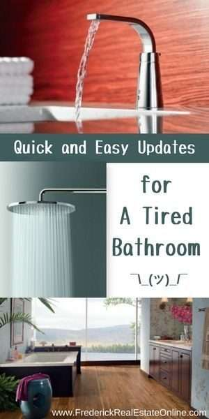 quick and easy updates for the bathroom