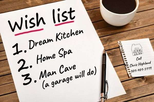 home buyers top 10 wish list