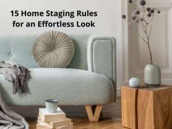 15 home staging rules
